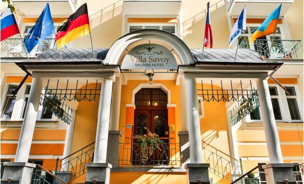 Lázeňská péče pro pány i dámy v Mariánských Lázních: Villa Savoy Spa & Wellness s plnou penzí a saunou bez omezení