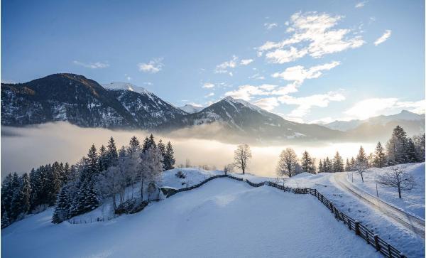 Zimní dovolená v penzionu Haslinger v Salcburských Alpách se snídaní