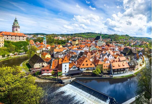 Kouzelné město Český Krumlov z pensionu Franko se snídaní - 10 minut pěšky od historického centra a zámku