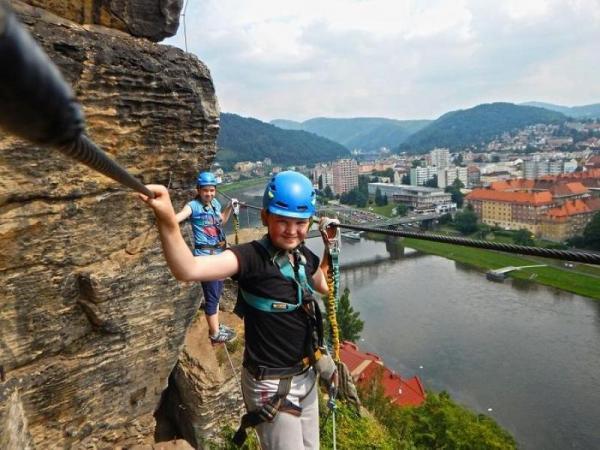 Dva dny na nejdelší via ferratě Česka