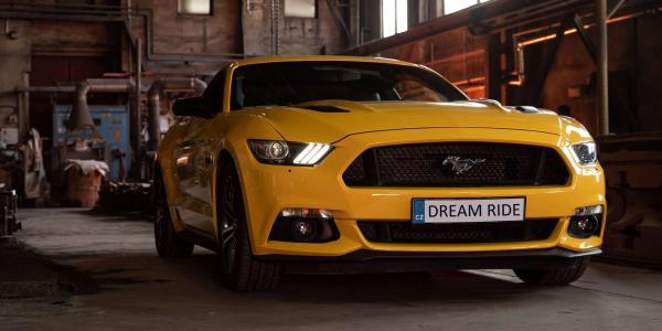Zážitková jízda včetně paliva v nadupaném sportovním voze Ford Mustang GT jako spolujezdec nebo řidič
