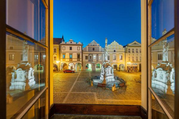 Pohádkové ubytování ve čtyřhvězdičkovém hotelu Zlatá hvězda v srdci Třeboně s polopenzí a možností whirpool či fangoterapie