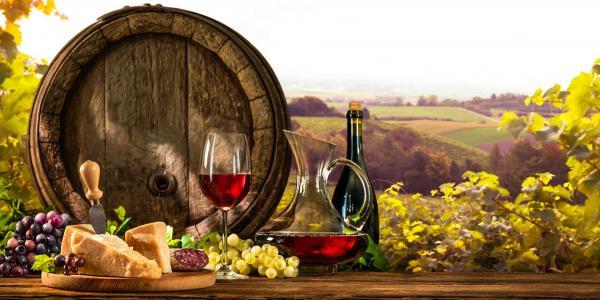 Neomezená konzumace vína, živá hudba a polopenze pro dva v penzionu V Zahraničí v Bořeticích