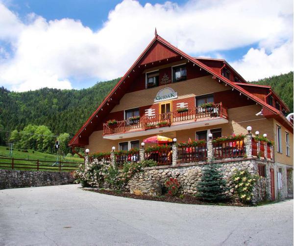 Odpočinek v panenské přírodě s polopenzí a bazénem v Horském hotelu Gejdák *** s mini farmou