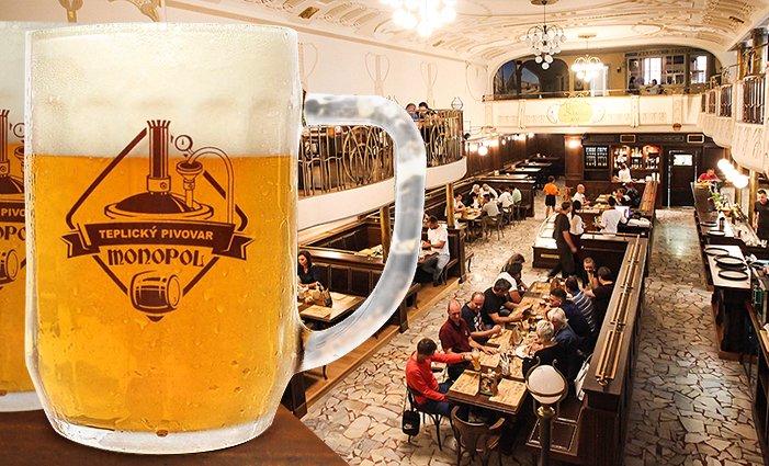 2–3denní pobyt s neomezenou konzumací piva pro 2 v hotelu Monopol v Teplicích