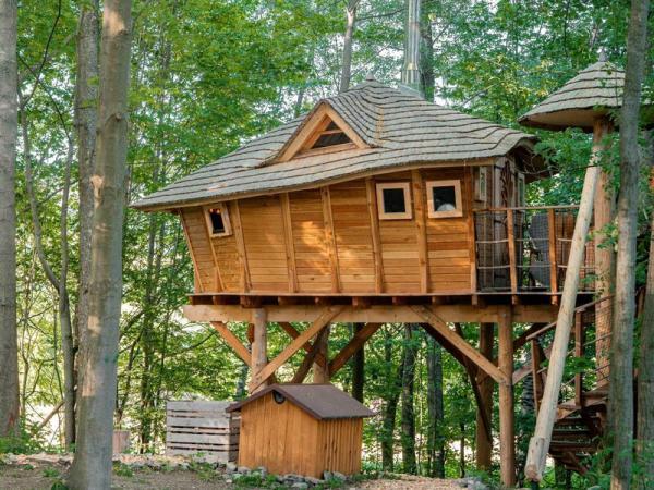 Ubytování v tree housu s vlastní saunou